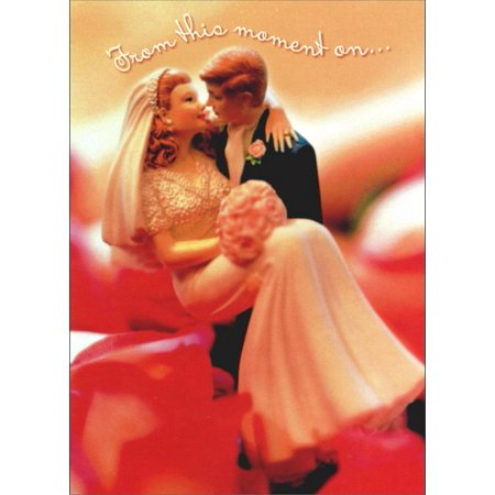 Avanti Press Figurine Groom Carries Bride Wedding / Marriage Congratulations Card