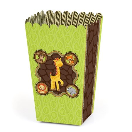 Jungle Baby Shower Ideas (Funfari - Fun Safari Jungle - Baby Shower or Birthday Party Favor Popcorn Treat Boxes - Set of)