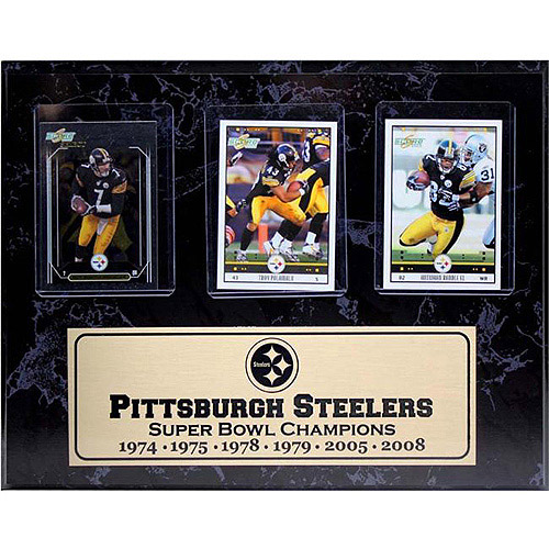 NFL Pittsburgh Steelers 3-Card Plaque, 9x12