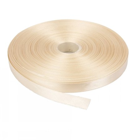 Ivory Solid Color 3/8-Inch Straight Edge Ribbon, - Ivory Ribbon