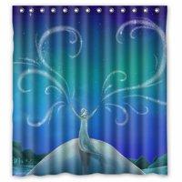 Ganma Frozen Cartoon Movie Elsa Shower Curtain Polyester Fabric Bathroom Shower Curtain 66x72 inches