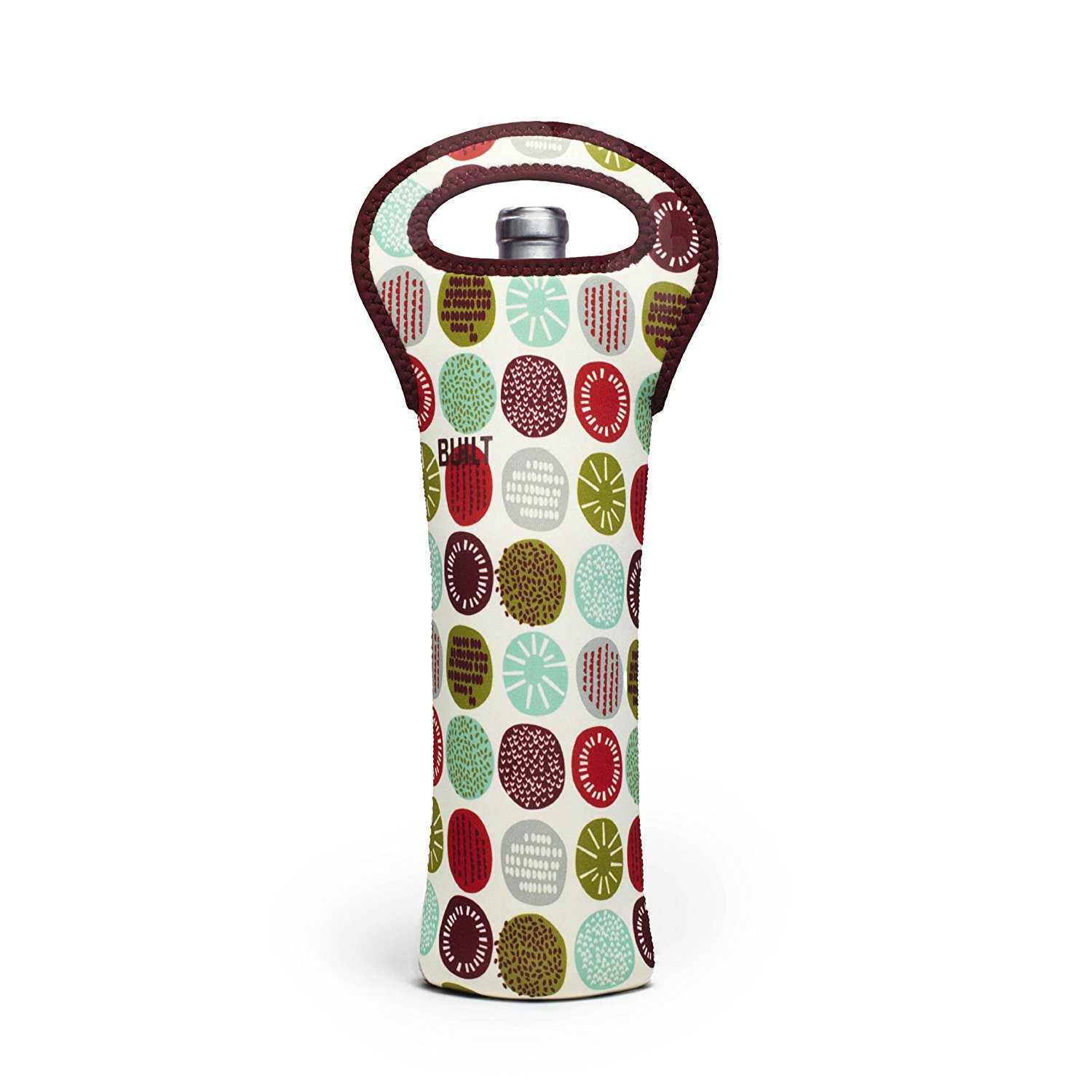 BUILT NY Neoprene Wine and Water Bottle Tote Peppermint Jubilee