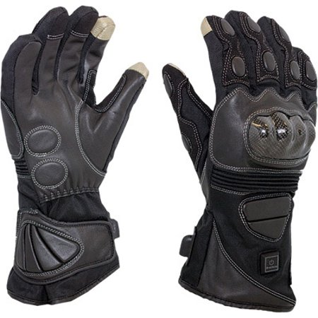 Venture Venture Carbon Men's 12 Volt Heated Leather Gloves Black Small (Mens Black Carbon Strap)