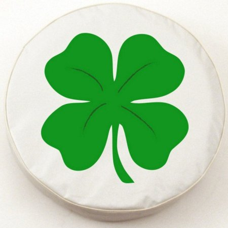 Tire Cover by Holland Bar Stool - 4-Leaf Clover, White - 28 5'' x 8''