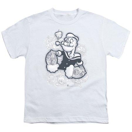 Popeye Tattooed Big Boys Youth Shirt (Big Top Tattoos)