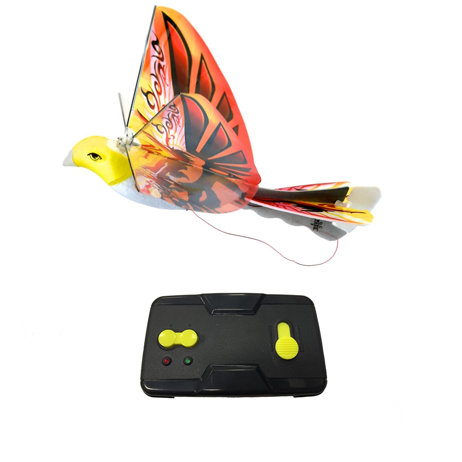 eBird Orange Phoenix - 2016 Creative Child Preferred Choice Award Winning Flying RC Toy - Remote Control Bionic Bird (Newest 2.4GHz Version Featuring USB Charging)