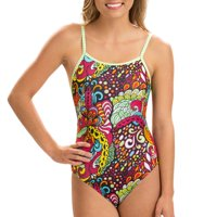 Dolfin Uglies Women's Print Double Strap Back Swimsuit in Looking Glass, Size 26