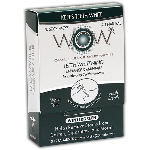 WOW Wintergreen Oral Cleansing Powder, 10 count