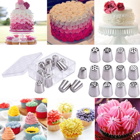 - Costway 12PCS Russian Stainless Nozzles Tips Cake Decorating Pastry Baking Tools w/ Box