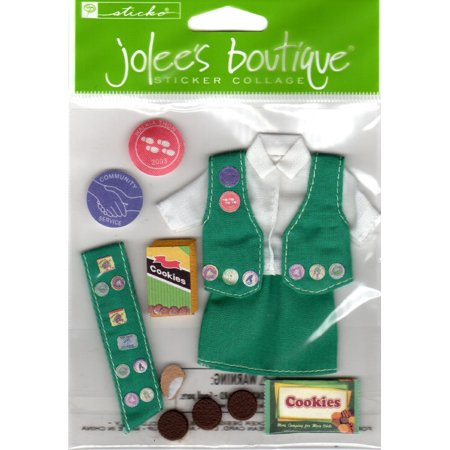 Jolee's Boutique Sticker Collage 3-Dimensional Girl Scout Uniform Cookies Scrapbooking (Dimensional Scrapbooking)