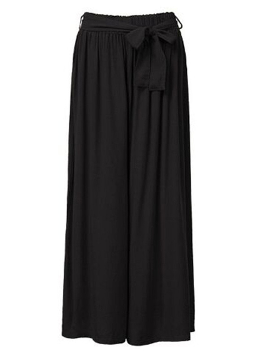 Women's Elastic Waist Loose Palazzo Wide Leg Pants