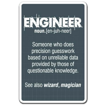 Engineering Decal (ENGINEER GUESS WORK Decal work engineering student job | Indoor/Outdoor | 5