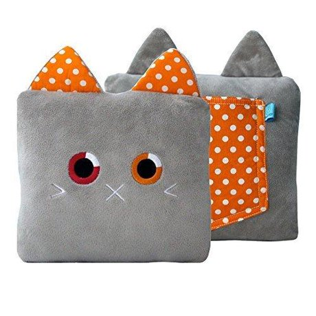 Stuffed Animal Pillows With Pockets : Poketti Plushies with a Pocket Plush Toy Cat Pillow Roxi the Kitty