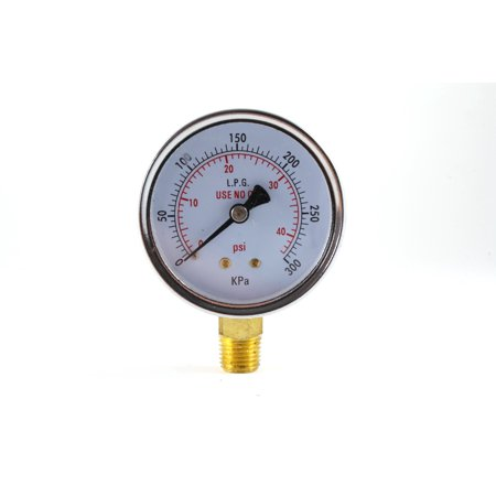 2.5 Inch Dial Gauge - Low Pressure Gauge for Propane Regulator 0-40 psi - 2.5 inches