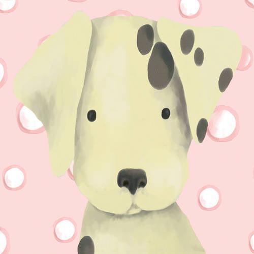 Oopsy Daisy's Radley the Dalmatian Pink Canvas Wall Art, 10x10