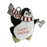 Pewter Penguin Ornament