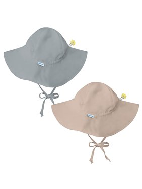 c3776533a3e Product Image i play Baby and Toddler Brim Sun Protection Hat- Gray and  Beige - 2 Pack