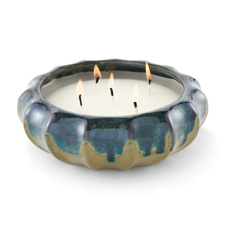 Better Homes and Gardens Outdoor 5-Wick Citronella & Lemongrass Candle, Hand-Glazed Reactive Ceramic Finish
