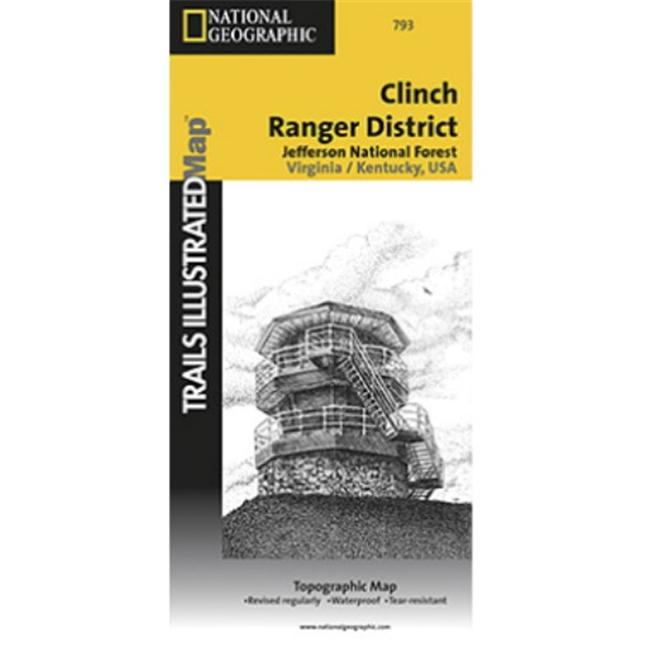 National Geographic TI00000793 Map Of Clinch Ranger District - Virginia - image 1 de 1