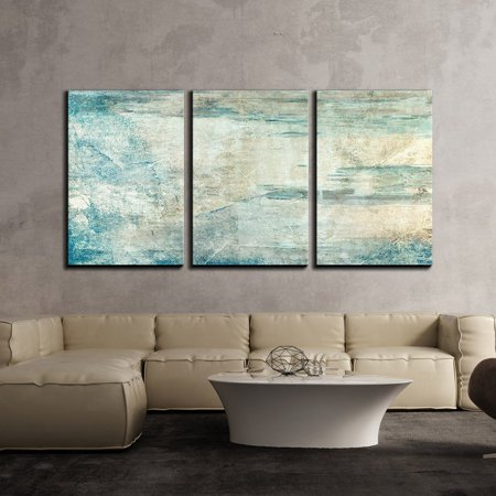 wall26 3 Piece Canvas Wall Art - Abstract Grunge Artwork - Modern Home Decor Stretched and Framed Ready to Hang - 24