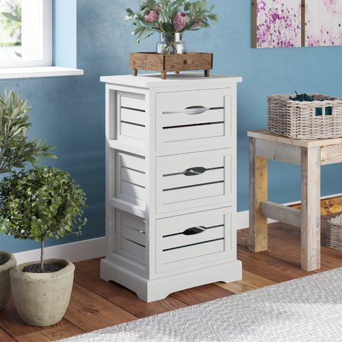 August Grove Loftis 3 Drawer Chest