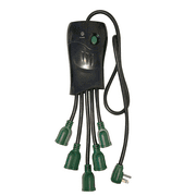 GoGreen Power 5 Outlet Squid Surge Protector, GG-5OCT 3' cord, Black