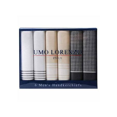 Men's Boxed 6 Piece Cotton Handkerchiefs (Branches Handkerchief)