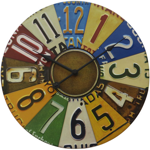 "Better Homes and Gardens 15.5"" License Plate Wall Clock"