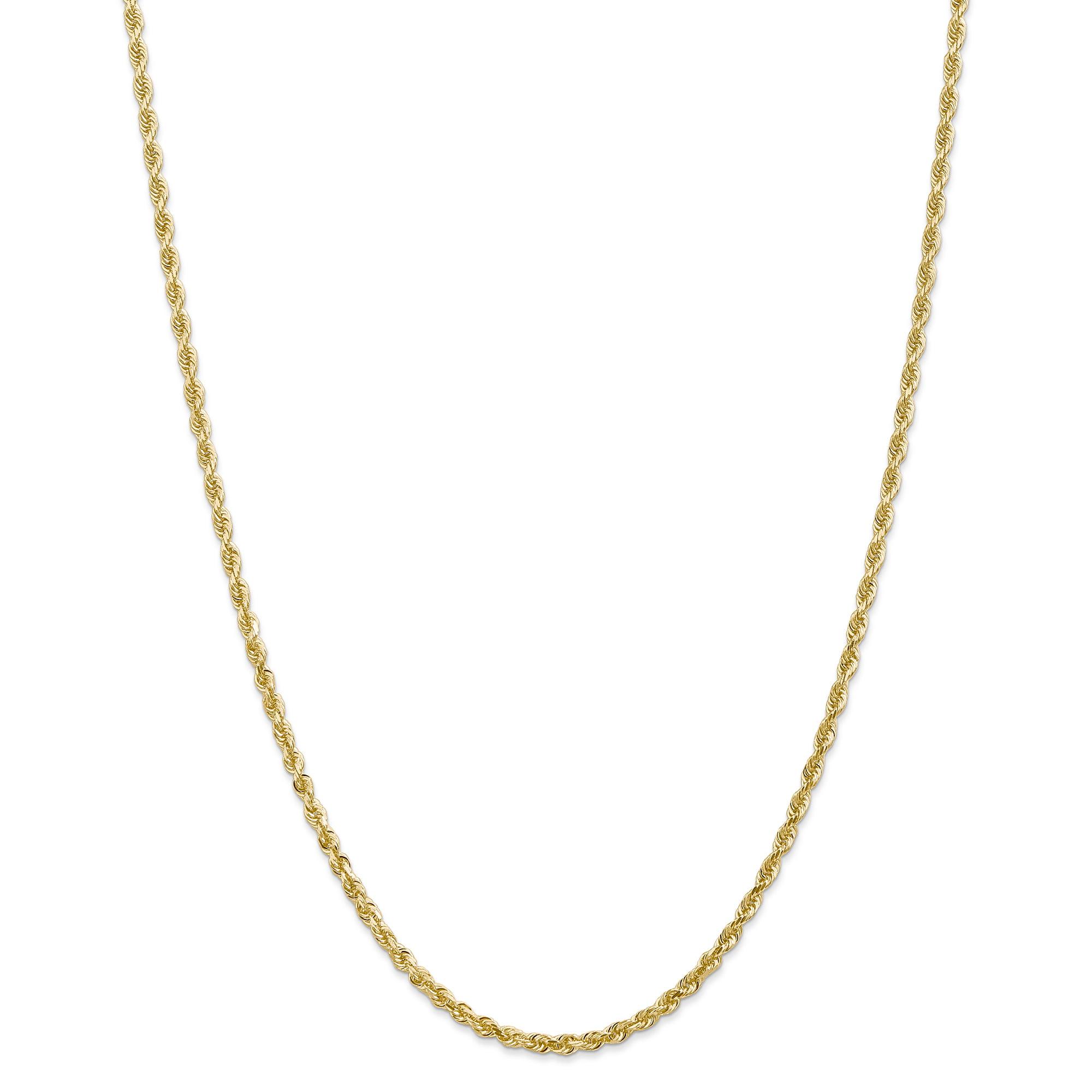 14K Yellow Gold 3.0mm Diamond Cut Quadruple Rope Chain 24 Inch - image 5 of 5