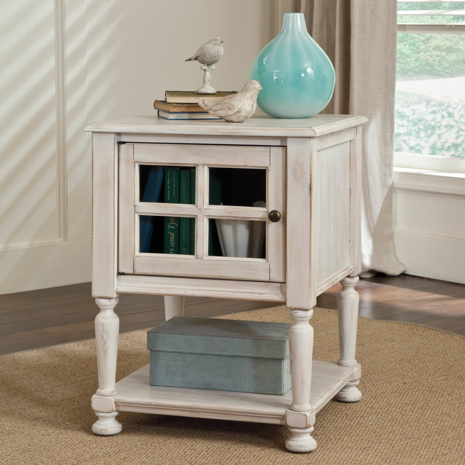 Signature Design By Ashley Cottage Accents White Chair Side End Table