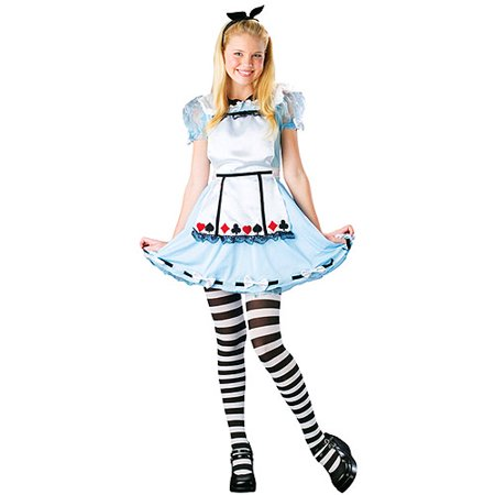 Alice in Wonderland Kids Halloween Costume * TEEN Girls Girls Junior (sz - Alice In Wonderland Theme Costumes