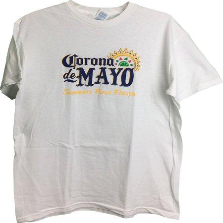 Corona De Mayo Men  39 S T Shirt White Medium
