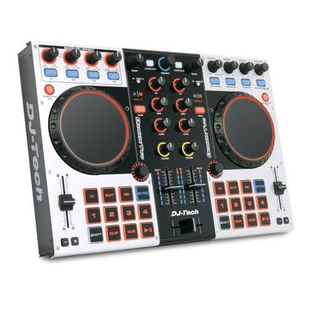 dj tech professional 4 channel digital dj controller and mixer dragontwo. Black Bedroom Furniture Sets. Home Design Ideas