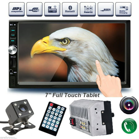 7'' HD 2DIN Bluetooth Video Player Touch Screen 2 DIN Car MP5 Player In Dash FM/MP3/USB AUX Input Stereo Radio Music (Car Radio With Aux Input For Ipod)