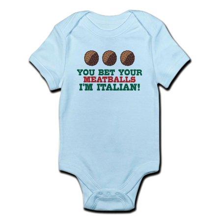 - CafePress - Funny Italian Meatballs Infant Bodysuit - Baby Light Bodysuit