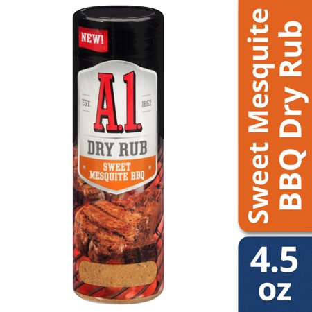 Barbecue Ribs Dry Rub - (2 Pack) A.1. Sweet Mesquite BBQ Dry Rub, 4.5 oz Can