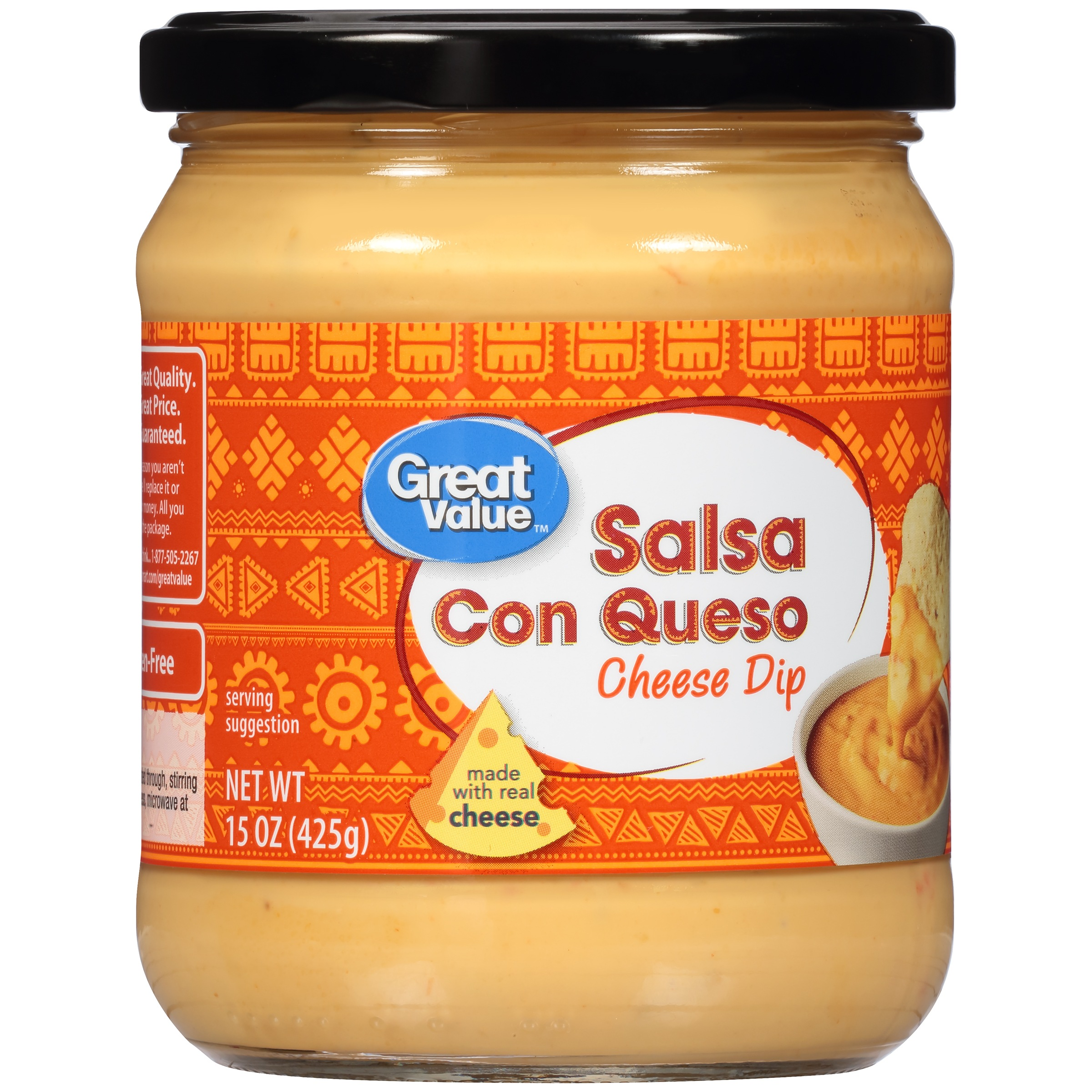 Great Value Salsa Con Queso Cheese Dip, 15 oz