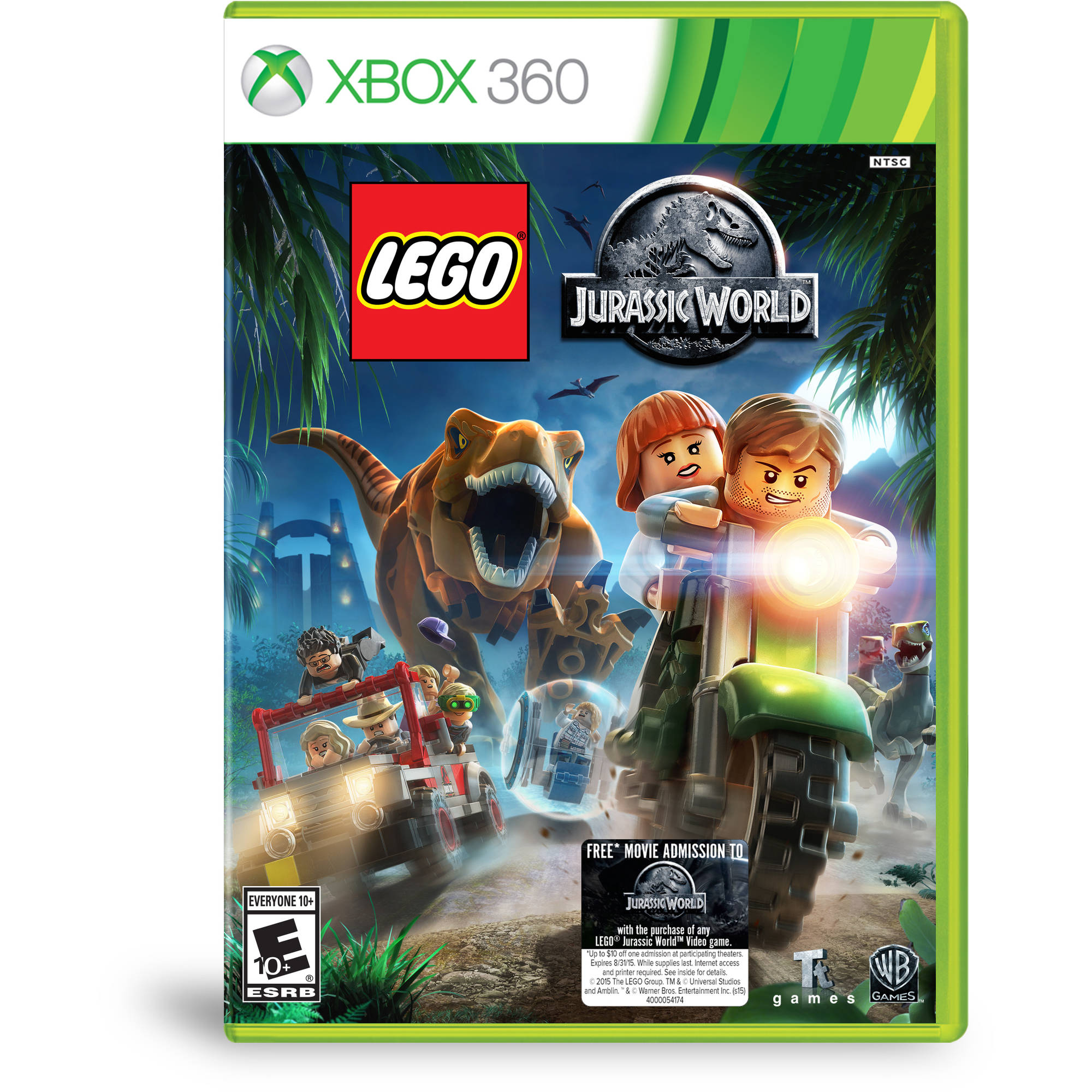 lego jurassic world walmart exclusive xbox 360   walmart