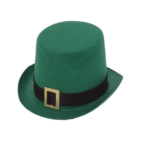 Deluxe New Green Leprechaun Costume Top Hat with Buckle