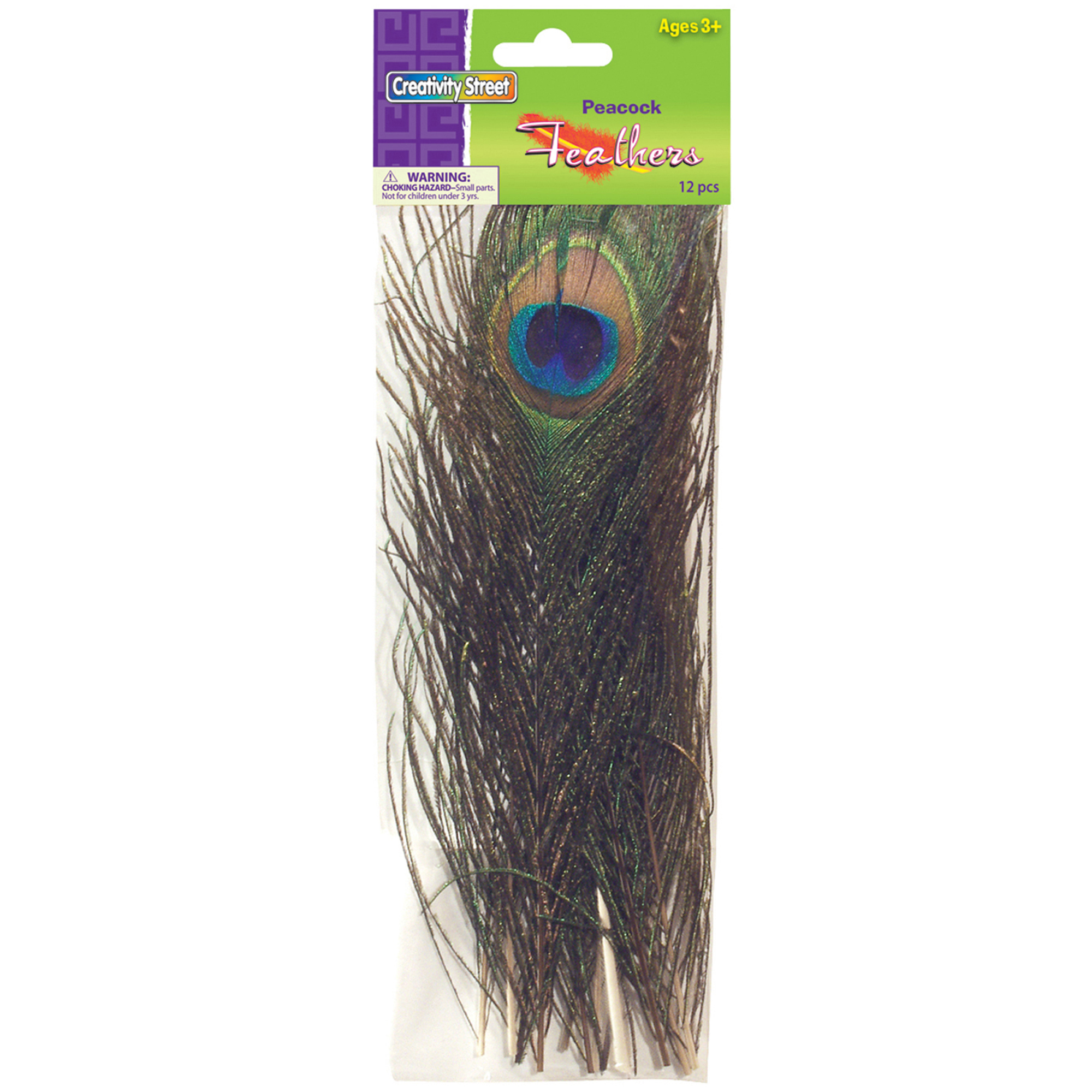 8 Deep Green Peacock Feather Make /& Fill Your Own Crackers Kit
