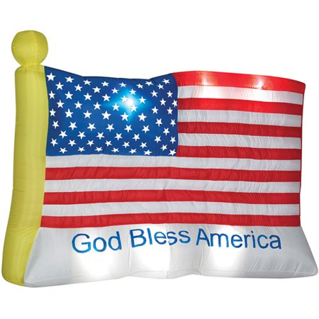 God Bless America Inflatable Flag Halloween Prop