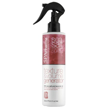 SpaPharma Sea Salt Beach Waves Hair Spray for Texture and Volume with Lavender Oil and Dead Sea Water Minerals 8.5 fl.