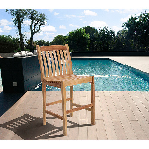 "Amazonia Tuxford 46"" Outdoor Teak Wood High Dining Chair"