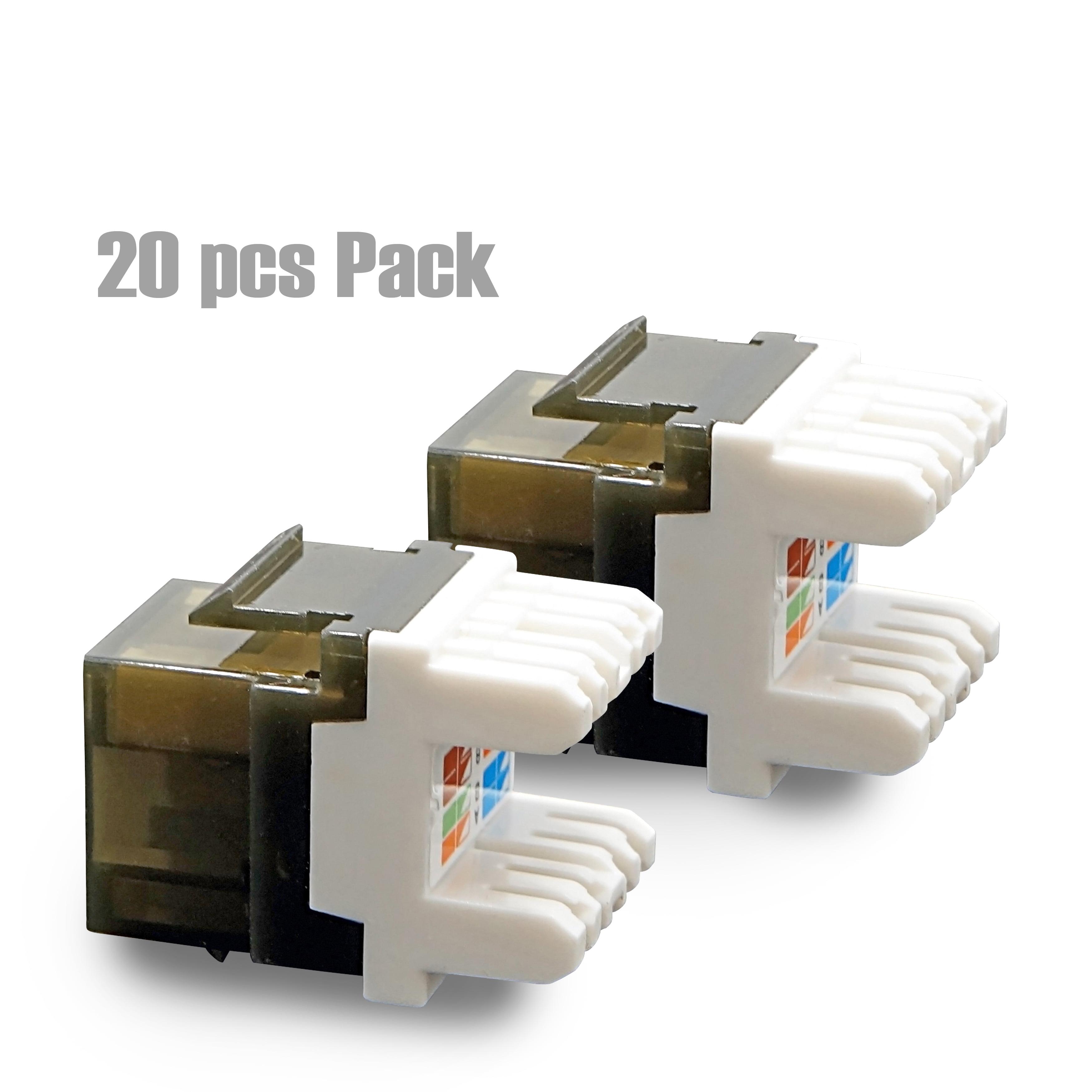 Cybertech Utp Cat 6a Cat 6 Cat 5e Keystone Jack With Led 20 Pack Walmart Com Walmart Com