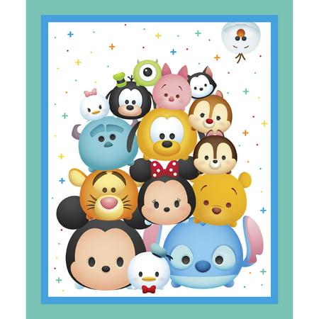 Disney Tsum Tsum Panel Fabric by the Yard (Mickey Mouse Clubhouse Fabric By The Yard)
