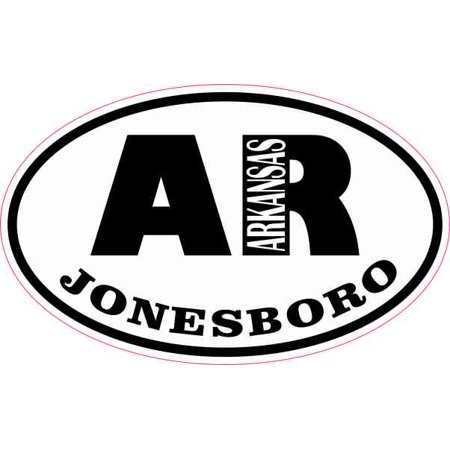 4in x 2.5in Oval AR Jonesboro Arkansas Sticker Car Truck Vehicle Bumper Decal](Halloween Jonesboro Ar)