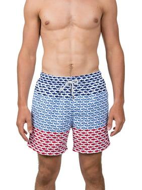 "Endless Summer Men's 6"" Americana Swim Short, up to Size 2XL"