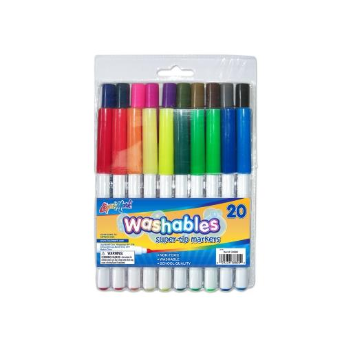 D3 Casemate 20ct Super Tips Washable Markers