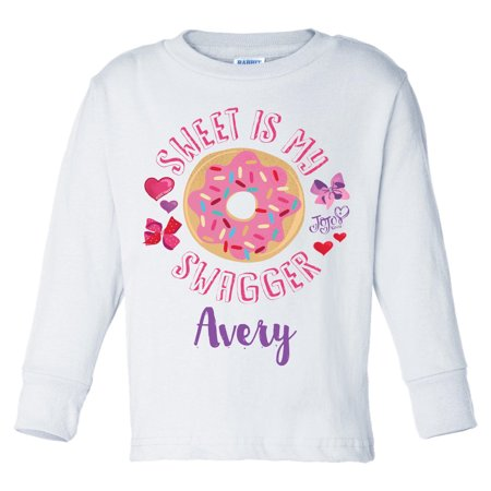 JoJo Siwa Sweet Is My Swagger Personalized White Long Sleeve T Shirt