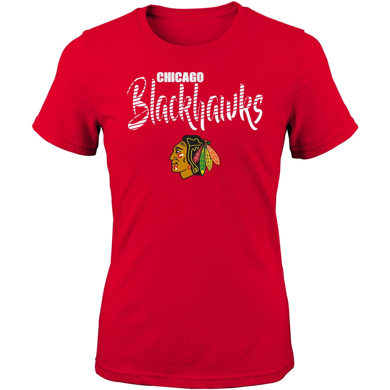 Girls Youth Red Chicago Blackhawks T-Shirt
